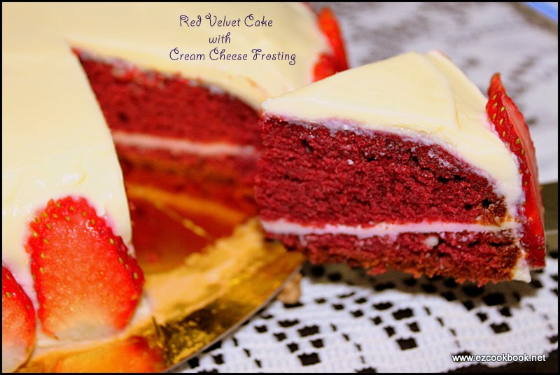 red velvet cake with cream cheese frosting | all natural and organic cake recipe