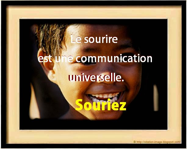 Belle citation sur le sourire