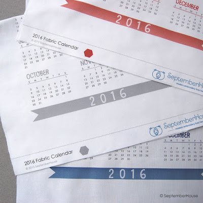 Hand Embroidery Blanks 2016 fabric calendar