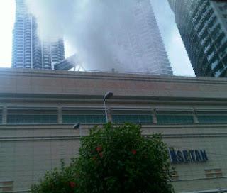 Gambar Suria KLCC Terbakar