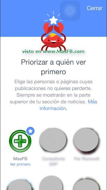 Priorizar a quien ver primero en Facebook - MasFB