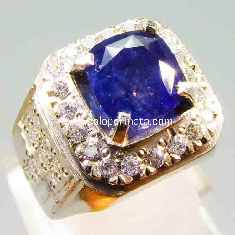 Cincin Batu Blue Sapphire - 14B05