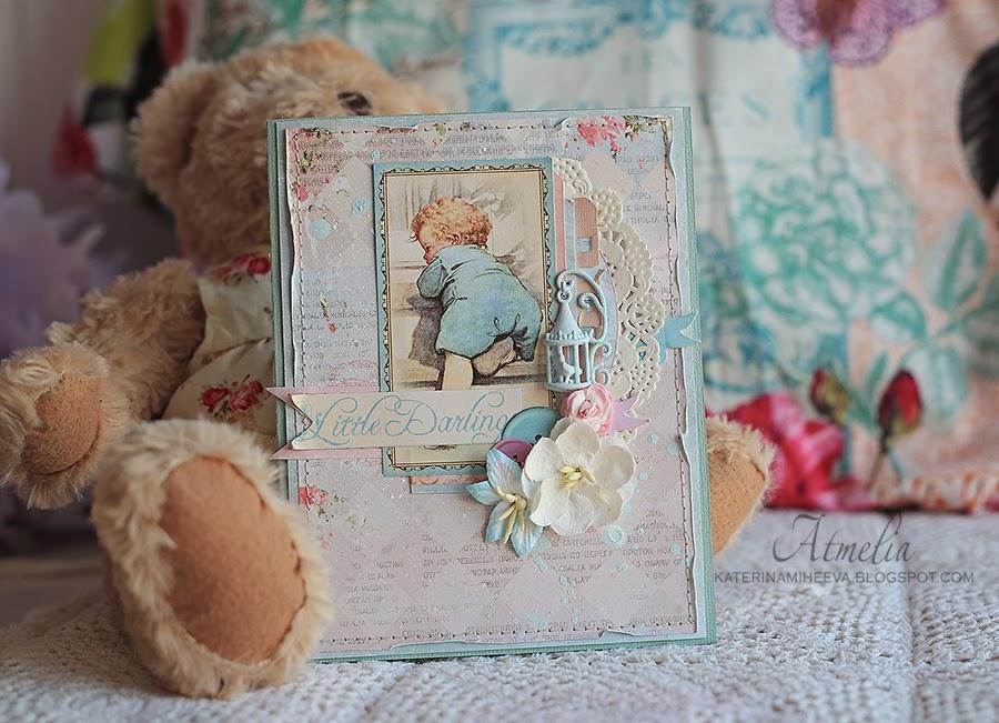 Открытки для новорождённой скрапбукинг