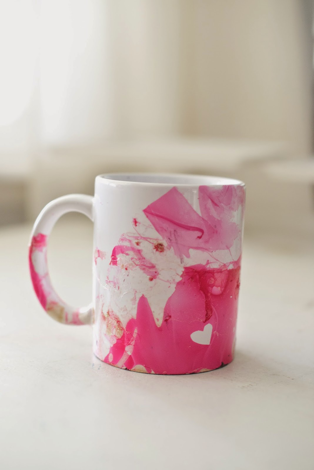 Domestic fashionista diy marbled nail polish coffee mugs solutioingenieria Image collections