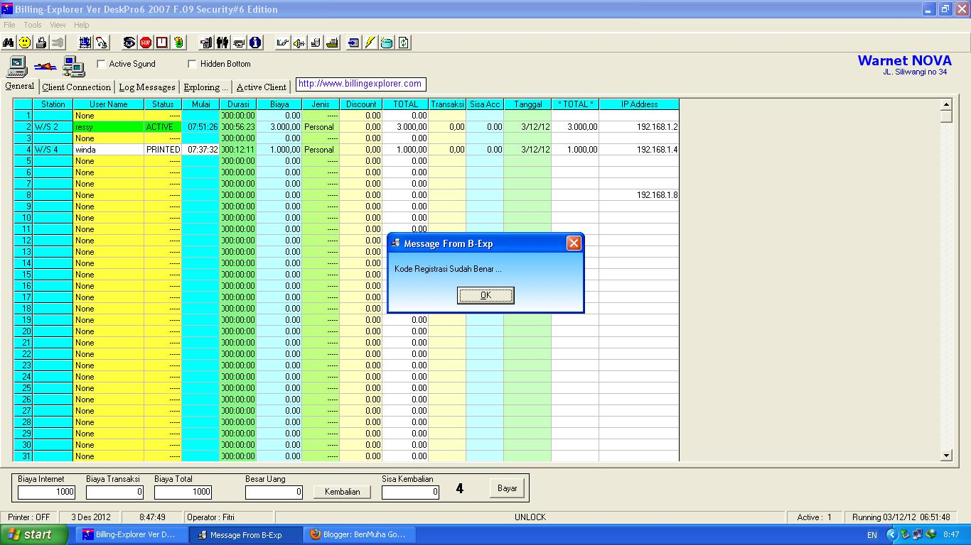 Download Billing-Explorer Ver Deskpro 6 2007 F.09 dan Crack DISINI