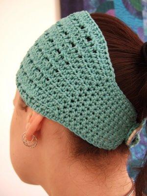 Crochet Hair Ribbon Pattern : ... crochet headband , crochet headband pattern , headband pattern