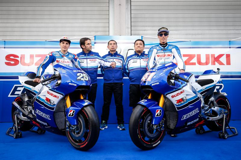 Motogp 2015 : Merayakan ulang tahun ke-30 dari Suzuki GSX-R , untuk sementara tim Suzuki Ecstar ganti livery . . .