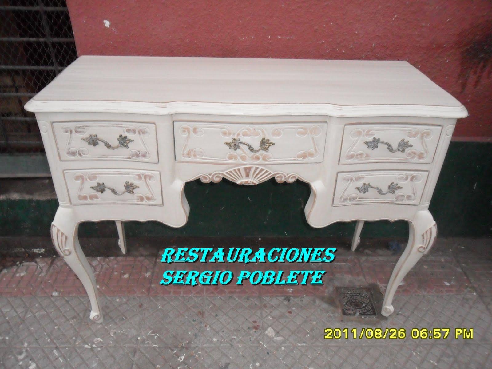 Restauraci N De Muebles Antiguos Sergio Poblete 2011 # Muebles Peinadores De Madera