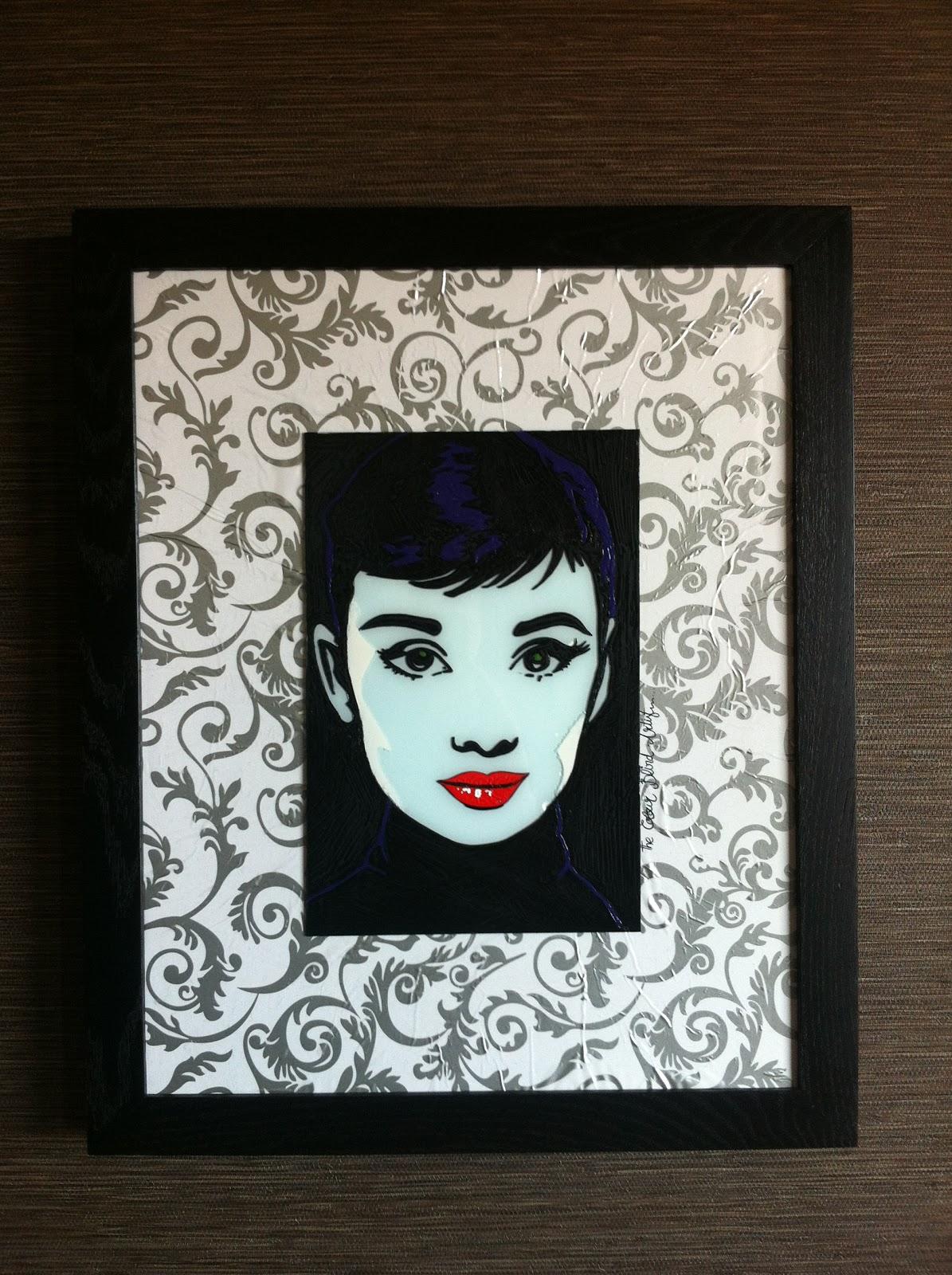 Audrey Hepburn Cuadros. Descripcin Cuadro Enmarcado Con Cristal ...
