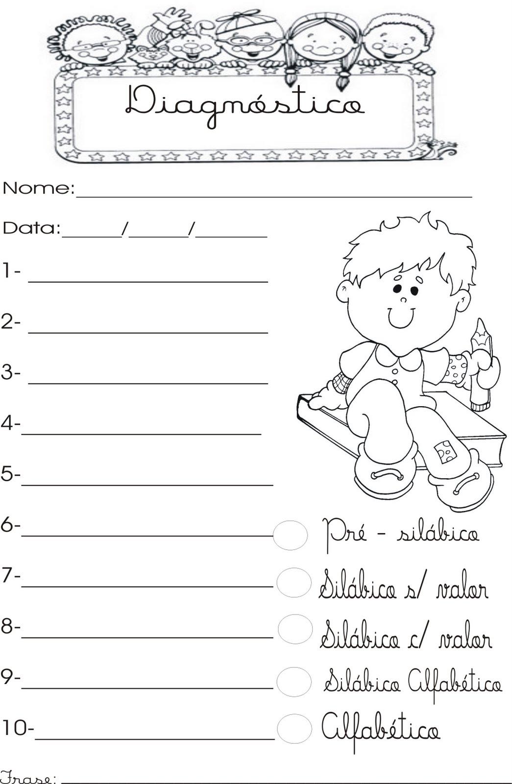 Cantinho Da Tia Pri Ditado Para Sondagem Na Alfabetização