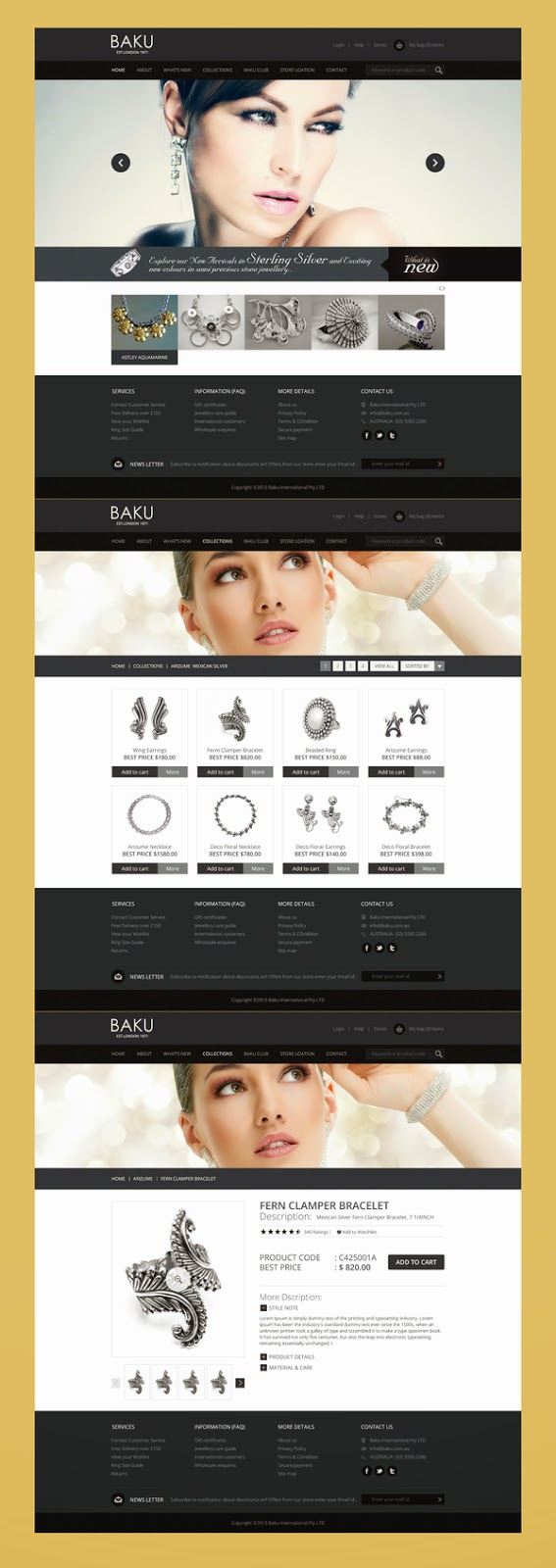 Online Store PSD Template