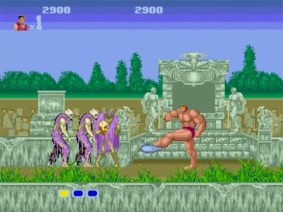 Les évolutions du héros dans Altered beast sur megadrive