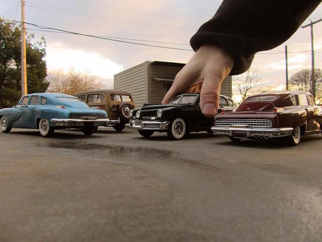 Artista perspectiva vehículos miniatura fotos históricas realistas