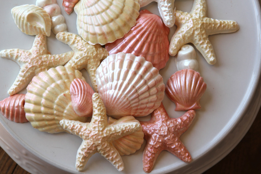 Molded Chocolates With White Shell
