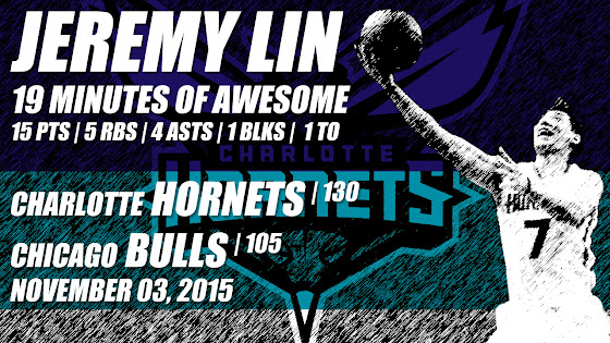 Jeremy Lin & Charlotte Hornets Beat Chicago Bulls, 130 To 105, 11.03.2015