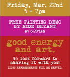 EVENT MARCH 22,  WOMENADE, TGIF, PAINTING DEMO, GIVE-AWAY!