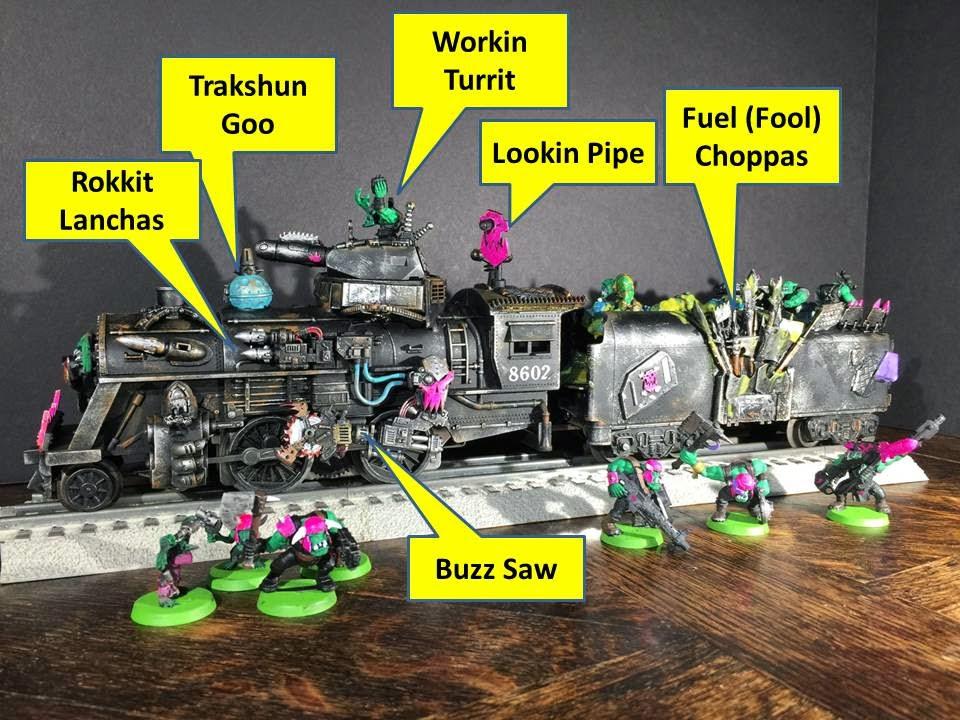 Pink Orks Train; Dakka Chugga; Ork Steam Train; Ork Converted Train; Battle Gaming One
