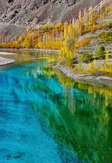 Khalti Lake, Pakistan, Look At Those Colors