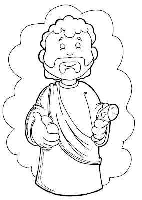 Desenho de Páscoa Cristã para colorir