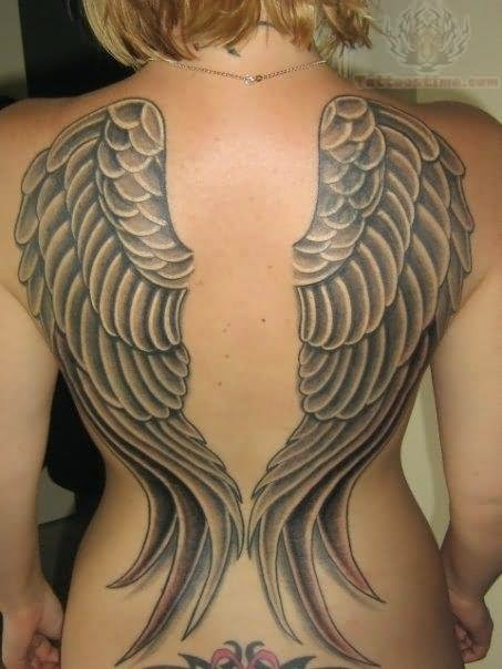 tattoos angel wings back