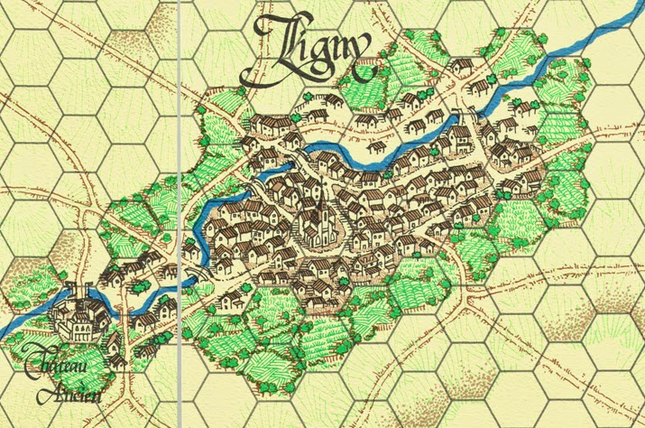 Ligny from the map for La Bataille de Ligny published by Clash of Arms