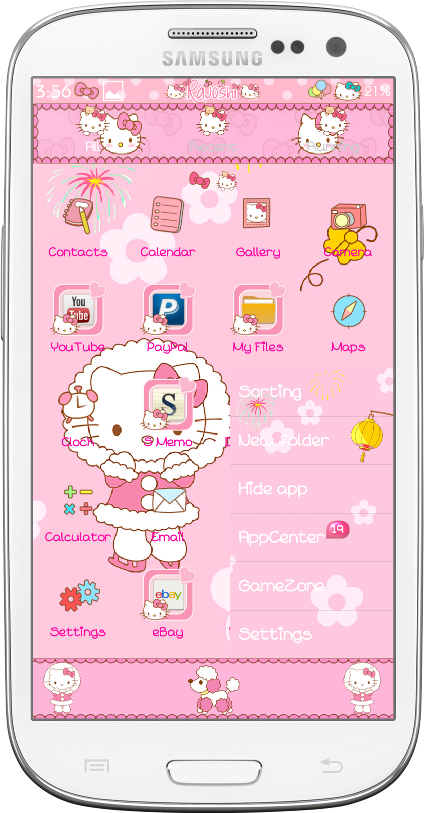 Hello Kitty Winter Go Launcher Theme   Android Themes