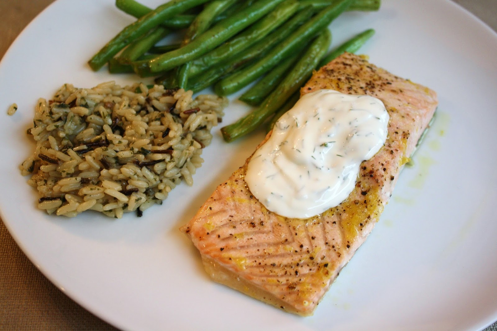 ... for dinner?: baked lemon salmon with creamy dill sauce... 25 minutes