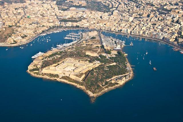 Manoel Island z lotu ptaka, Malta