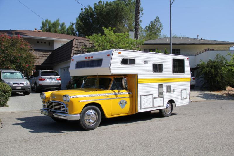 5k: Camping In Style: 1965 Checker Marathon Taxi Cab Camper Conversion