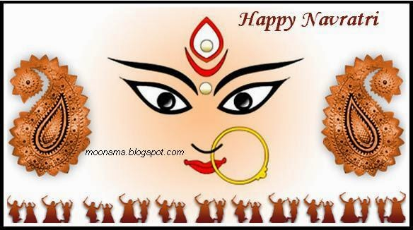 Navratri SMS message wishes greetings Hindi English Marathi wallpaper images pics photo shubh Maha Navami