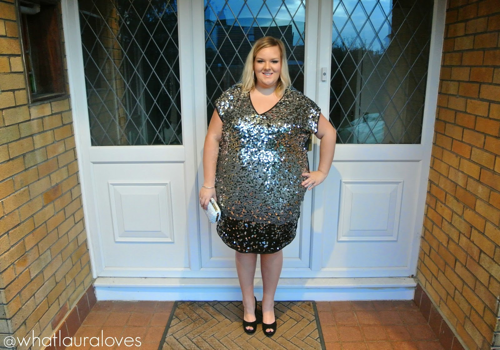 So Fabulous PLus Sized Very Sequin Dress