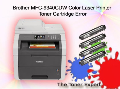 Brother MFC-9340CDW Color Laser Printer Toner Cartridge Error