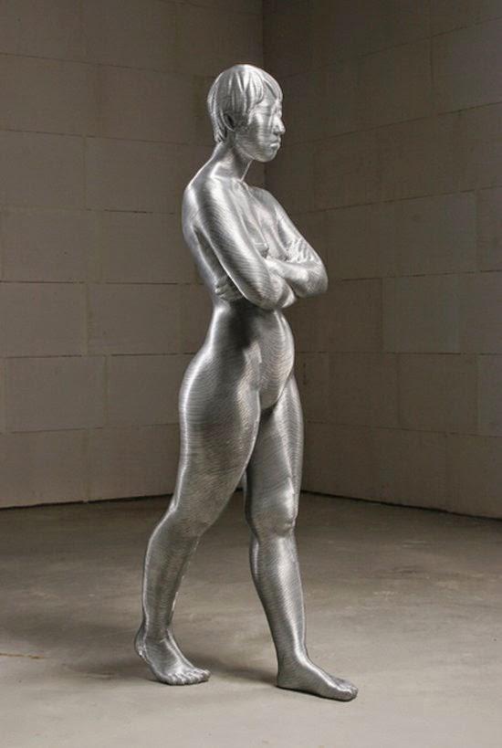 Seungmo Park esculturas feitas de arame corpos nus NSFW