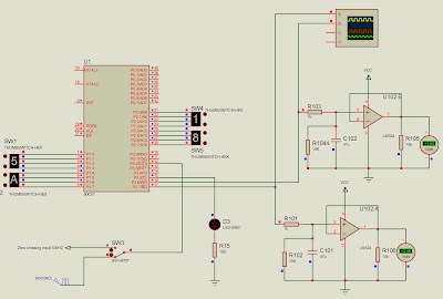 PWM with microcontroller 8051 for SCR or triac power control