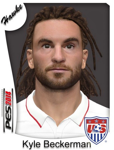 PES 2014 Kyle Beckerman Face by Hawke