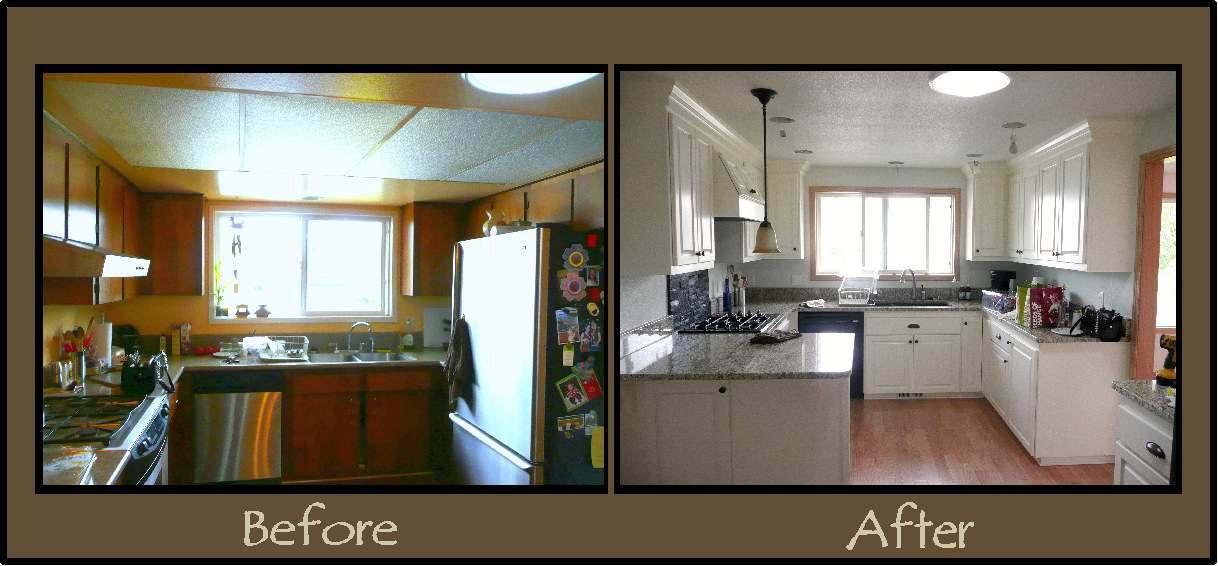 Before And After Pictures Of Remodeled Homes Home Kitchen Remodel Old