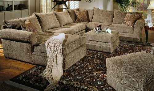 Chenille Sofa Sectional Images Homelegance Burke