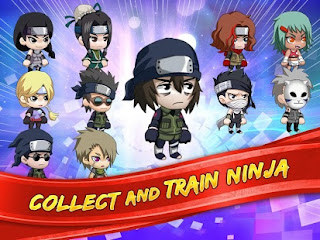 Screenshots of the Ninja Heroes for Android tablet, phone.