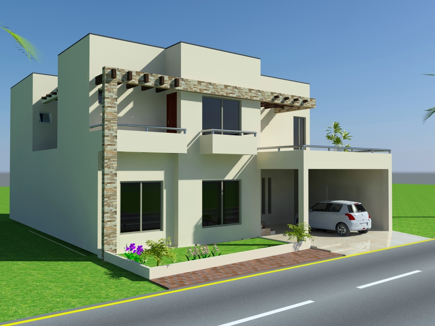 D Front Elevationcom Marla House Design Mian Wali Pakistan   Home Elevation  Map