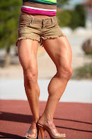 Female bodybuilders muscular calves