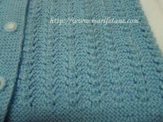 knit baby cardigan