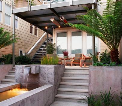 Fotos de terrazas terrazas y jardines casas minimalistas for Casas con jardin y terraza