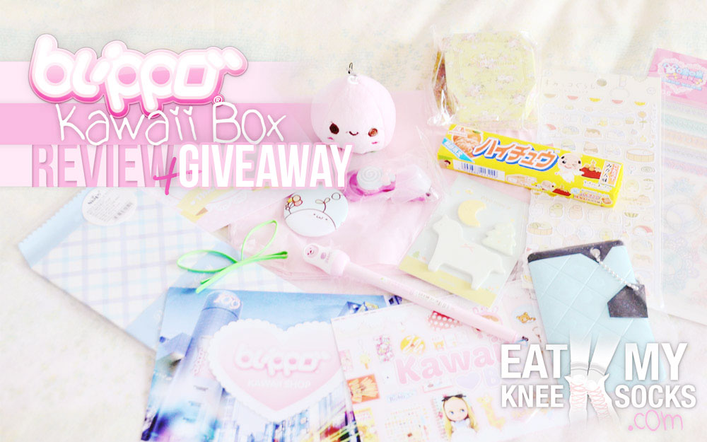 The intro photo for the Eat My Knee Socks/Mimchikimchi review and giveaway of the March 2015 Kawaii Box!