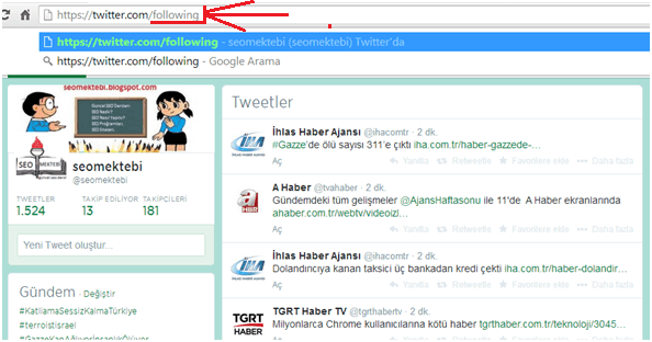 Twitter'da Takip Ettiklerini Doğal Olarak Silme