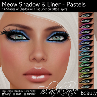 Blacklace+Beauty+Meow+Shadows+&+Liner+Pastels Titillate Me