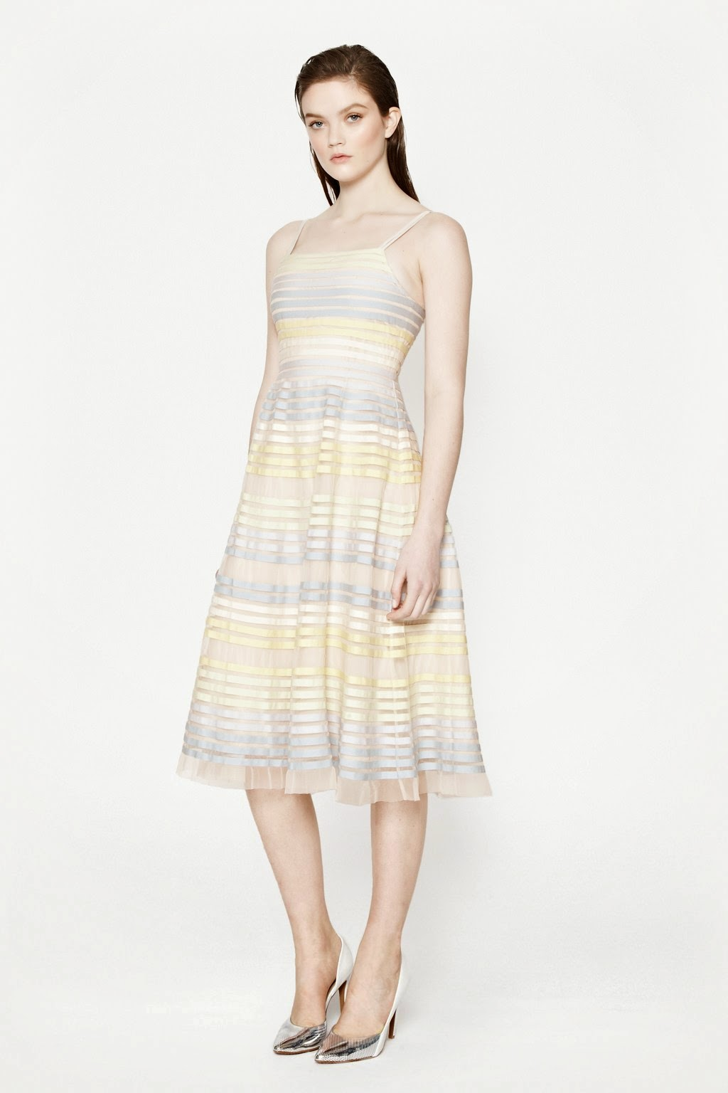 french connection striped pastel dress, pastel striped dress,