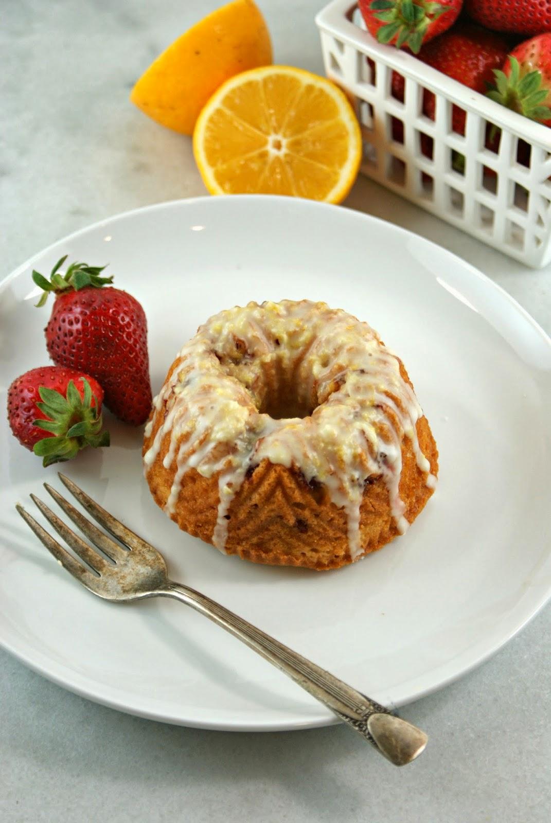 ... : Mini Meyer Lemon and Strawberry Bundt Cakes | Secret Recipe Club