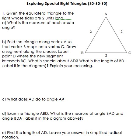 Printables Special Right Triangles 45 45 90 Worksheet 45 90 triangle worksheet plustheapp special right triangles a 30 60 triangle