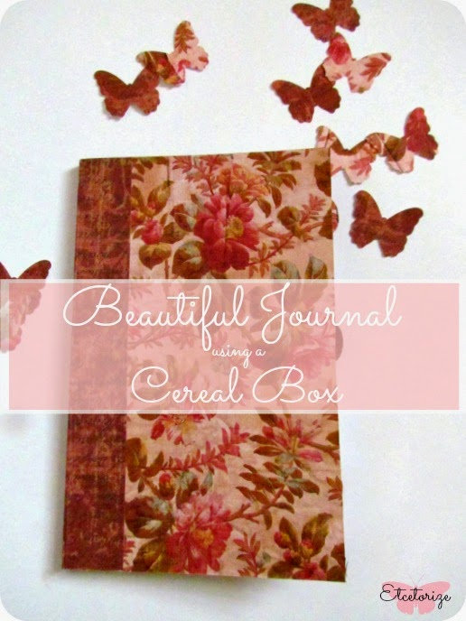 Etcetorize cereal box journal diy journal cereal box recycle make your own journal ccuart
