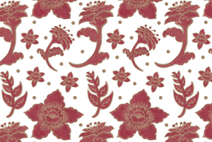 The Burgundy Batik Flowers Pattern by Haidi Shabrina